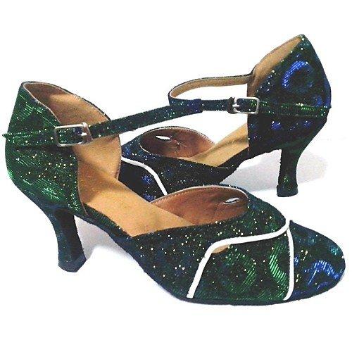 verdi verde Jazz verdi Q Scarpe da Tango Swing Salsa Practice T scintillanti Performance Indoor moderne da T ballo scintillanti donna Sandali 1FPqPw