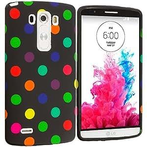 Accessory Planet(TM) Black / Color Polka Dot TPU Design Soft Rubber Case Cover Accessory for LG G3
