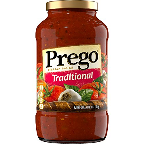 Prego Tomato Sauce - Prego Pasta Sauce, Traditional Italian Tomato Sauce, 24 Ounce Jar