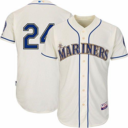 d7c88029f high-quality Ken Griffey Jr Seattle Mariners MLB Majestic Men s Ivory HOF    SUPERSTARS Authentic