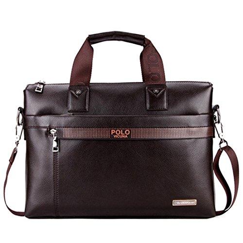 VICUNA POLO Man Briefcase Bag Messenger Bag Laptop Bag Man Bag Shoulder Bag(brown)