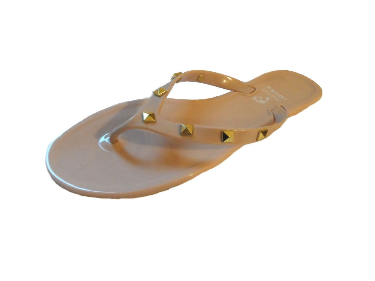 Sand Rocks Ladies Girls Stud Jewel Jelly Flip Flop Sandals Coral Black Nude  Size 4 5 6 7: Amazon.co.uk: Shoes & Bags