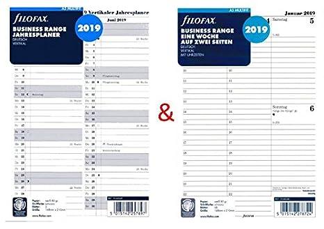 Calendario Settimane Anno 2019.Filofax Calendario Inserto Set A5 Multifit Una Settimana Su