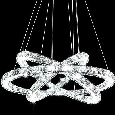 Siljoy Three Rings Modern Pendant Ceiling Light Fixture LED Chandelier Lighting