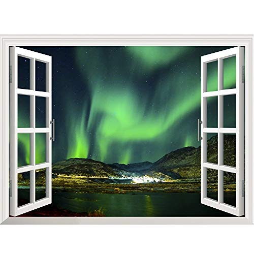 iYBUIA 3D Star Space Home Decor Art Fake Window New Wall Removable Stickers