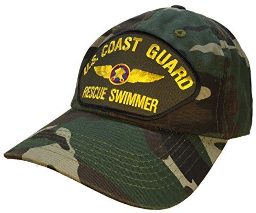 Coast Guard Rescue Swimmer Hat CAMO Ball Cap 100% Cotton UNSTRUCTURED