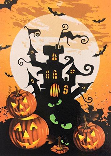 Halloween Haunted House Garden Flag 12