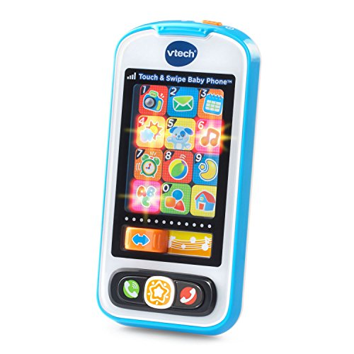 VTech Touch and Swipe Baby Phone, Blue (Toy Cell Phone For 1 Year Old)
