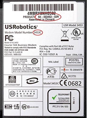 USR843453C US Robotics Courier 56K Business Modem