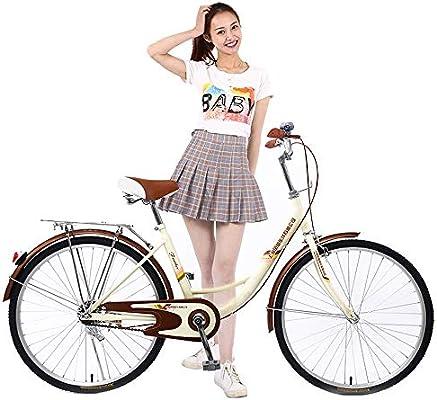 Lzcyn-3 Bicicleta clásica para Mujer, de Acero al Carbono, para ...