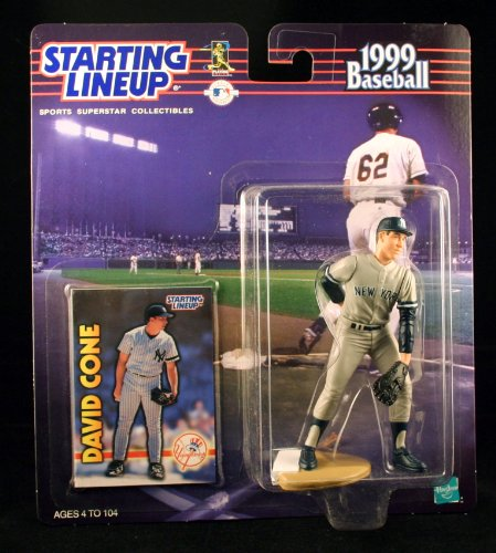 (Starting Lineup DAVID CONE / NEW YORK YANKEES 1999 MLB Action Figure & Exclusive Collector Trading Card)