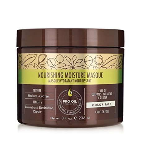 (Macadamia Professional Nourishing Moisture Masque - 8oz. - Medium to Coarse Hair Textures - Ultimate Hydrating Treatment - With Argan Oil - Sulfate, Gluten & Paraben Free, Safe for Color-Treated Hair)