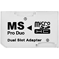 Sanoxy - Tarjetas de memoria micro SD TF a adaptador MS Pro Duo para Sony PSP y celular , Blanco