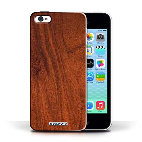 Kobalt® protector duro de nuevo caso / cubierta para el Apple iPhone 5C   Caoba Diseño   Efecto de grano de madera/patrón colección