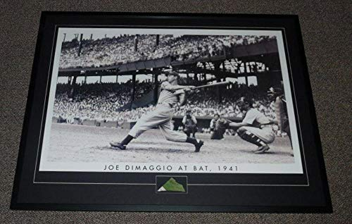 - Joe DiMaggio Signed Picture - Framed 31x41 Poster Display The Swing - PSA/DNA Certified - Autographed MLB Photos