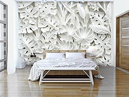 murando Papier peint intiss/é 350x256 cm D/écoration Murale XXL Poster Tableaux Muraux Tapisserie Photo Trompe loeil blanc f-B-0038-a-a