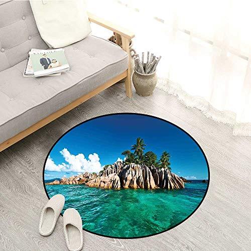 (Island Bedroom Rugs St. Pierre Island at Seychelles Natural Granite Relaxation Mediterranean Children Crawling Bedroom Rug 2'7