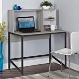 Simple Living 3590731 Black Laminate MDF/Metal Porter Desk Simple Living