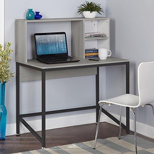 Simple Living 3590731 Black Laminate MDF/Metal Porter Desk - Table Clocks Furniture Collections