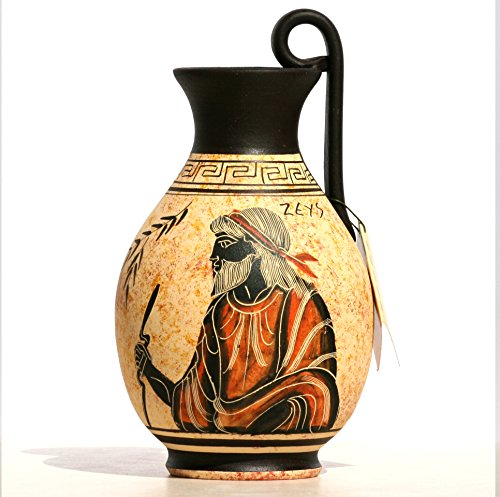 Greek black-figure Ceramic Vase Pot Pottery Painting King God Zeus (Greek Art Vases)