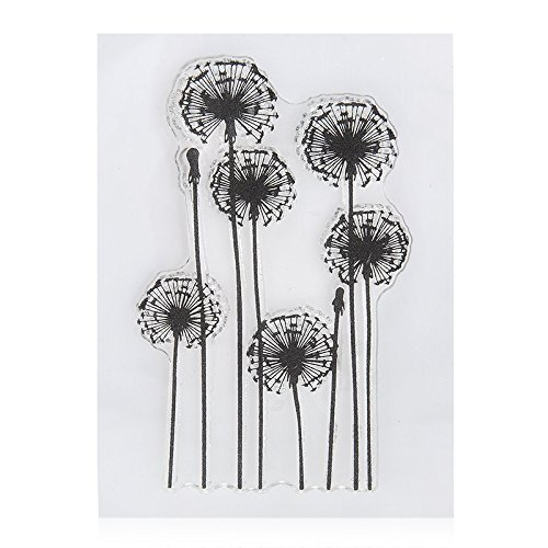 4pcs//Lot Dandelion Lavender Flowers Leaves Stamp Rubber Clear Stamp//Seal Scrapbook//Photo Album Decorative Card Making Clear Stamps