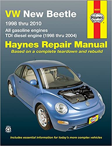 vw new beetle 1998-2010 repair manual (haynes repair manual) 1st edition