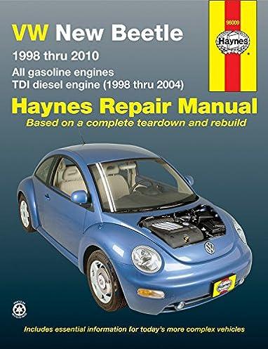 vw new beetle 1998 2010 repair manual haynes repair manual haynes rh amazon com 2004 volkswagen beetle convertible repair manual 2004 Beetle Interior