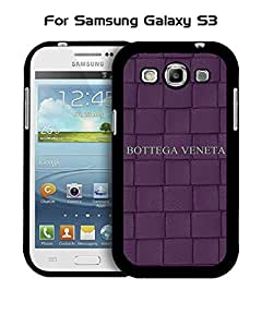 Galaxy S3 Funda Case Brand Logo (BV) Bottega Veneta Solid Anti Slip Customized Impact Resistant Ultra Slim Compatible with Samsung Galaxy S3 i9300