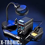 X-TRONIC #6040 - 2 in 1 Digital Hot Air Rework Soldering Iron Station