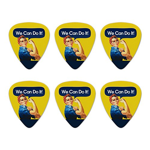 Rosie The Riveter Poster World War II Novelty Guitar Picks Medium Gauge - Set of 6