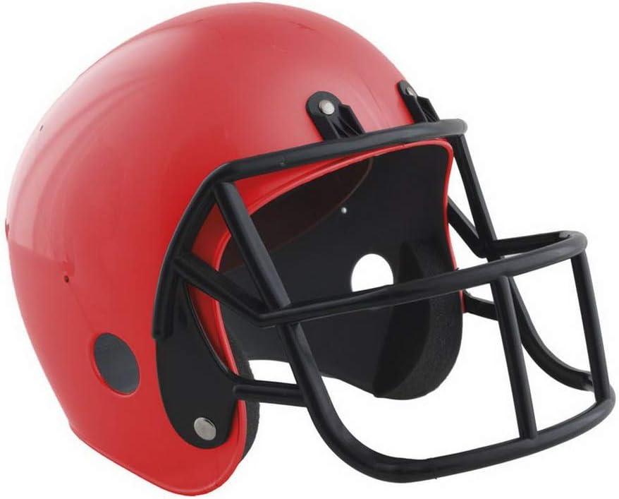 Kinder American Football Helm Rot Halloweenia perfekt f/ür Karneval und Halloween