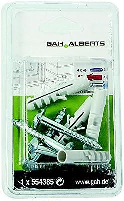 GAH-Alberts galvanizados, 4 unidades Juego de tornillos para fijaci/ón de rejas de ventanas