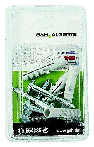 GAH-Alberts Kit de 4 vis de s/écurit/é et chevilles pour fixation de grilles de fen/être 50 x 7 mm