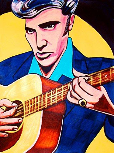 ELVIS PRESLEY PRINT POSTER guitar cd lp record album vinyl king gospel country rock and roll greatest hits