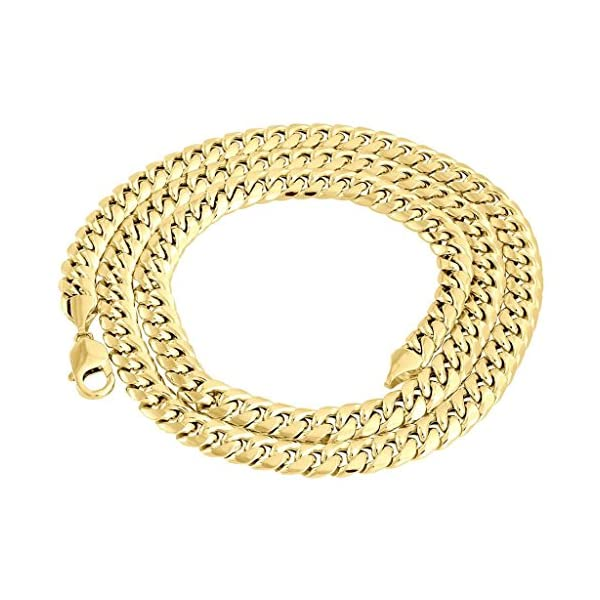 10k-Yellow-Gold-Chain-Mens-Miami-Link-6mm-Wide-Cuban-Link-Chain
