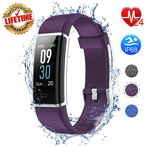 I-SWIM Fitness Tracker Color Screen, Heart Rate Monitor, Sleep Monitor, Step Counter, Calorie Counter, Smart Pedometer Watch, IP68 Waterproof Activity Tracker for Men Women Kids