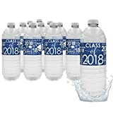 Class of 2018 Graduation Party Water Bottle Labels, 24 Count (Blue)