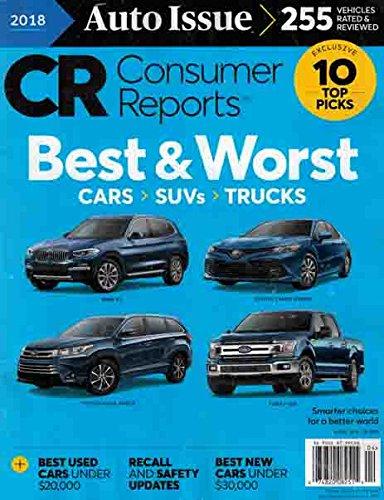 Consumer Reports Magazine April 2018 Auto Issue