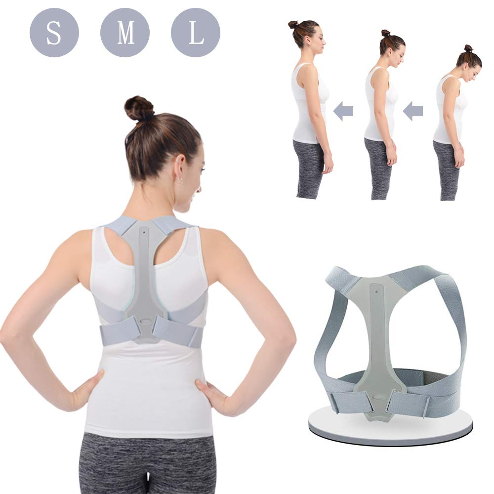 Posture Corrector for Men and Women HOPAI Posture Corrector Adjustable Upper Back Brace for Clavicle Support and Providing Pain Relief from Neck, Back & Shoulder (Size M) by HOPAI