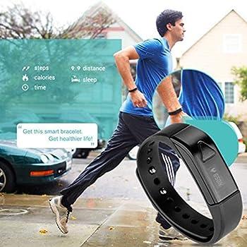 007plus T5 Smart Bracelet Bluetooth Fitness Tracker (Pink) 6