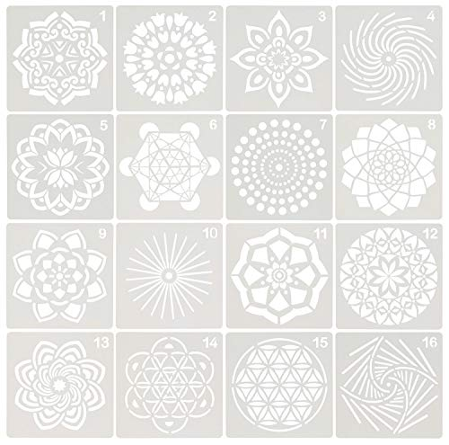 Used, Penta Angel 16Pcs Mandala Dot Painting Template Stencils, for sale  Delivered anywhere in Canada