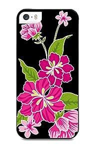 Muvit MUPRBKCIP5S2070 - Carcasa para iPhone 5s, diseño de hibisco, color negro