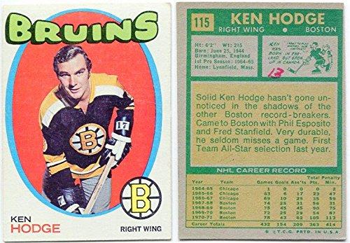 1971/72 Topps Ken Hodge Card #115 Boston Bruins