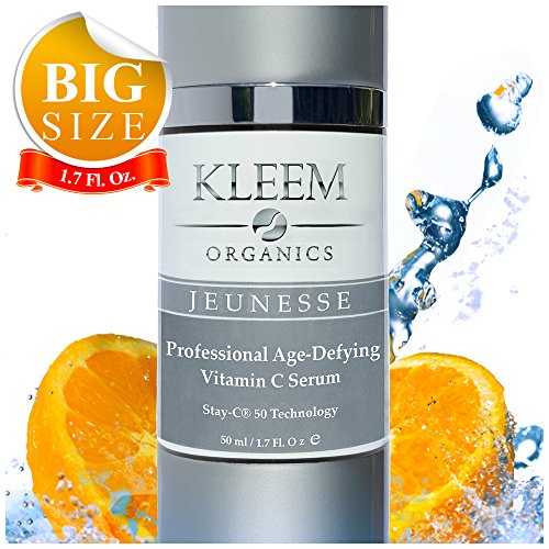 NEW Vitamin C Serum with Hyaluronic Acid for Face and Eyes [BIG 1.7-OZ Bottle] – Best Anti Aging Anti Wrinkle Facial Serum with Natural Ingredients - Results in 5 Weeks