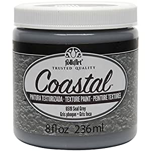 FolkArt Coastal Texture Paint in Assorted Colors (8 ounce), 6519 Seal Grey