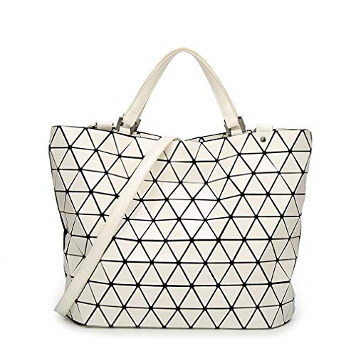 BLACKHEI, Borsa a mano donna Small Luminous taglia unica Large White