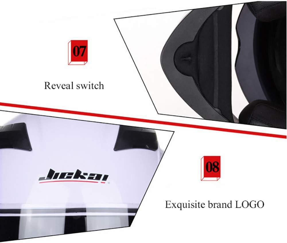 JIEKAI Casco Integrale Modulare Doppia Visiera Casco Moto Donna M-XXL 55-64cm Caschi Integrali per Moto Caschi per Moto da Strada Casco Motocross,Blue-M(55-57cm)