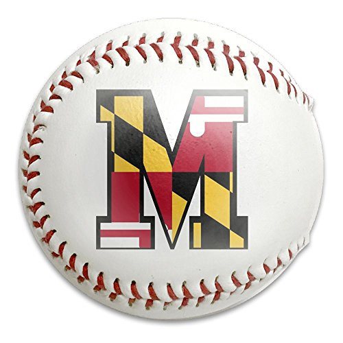 Maryland Flag M Pride Durable Print Practice Competitions All-American Youth Baseball Keepsakes
