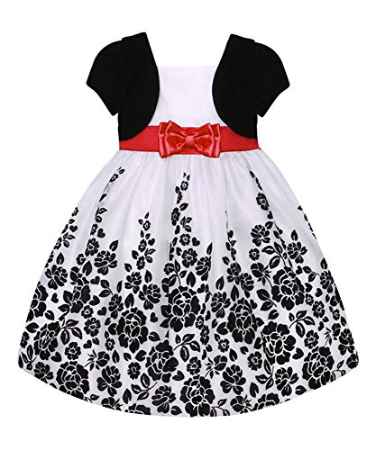 American Princess Girls Plus Size Mock Bolero Floral Dress - Mock Bolero