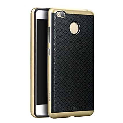 more photos 646cd fa9e1 Ipaky Ultra Thin Shockproof Back + Case Cover For Xiaomi Redmi 3S Prime -  Gold